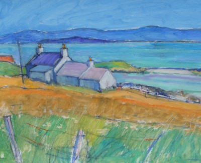 Scottish Artist Alan ANDERSON - Ardionra Farm, Nth End Iona