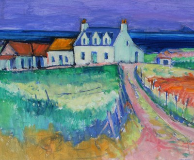 Scottish Artist Alan ANDERSON - Lagandorain Farm and Dutchman's Cap