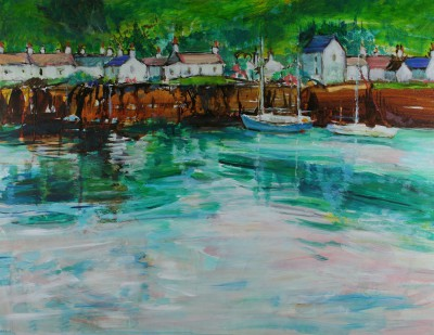 Scottish Artist Alan ANDERSON - Reflections Easdale