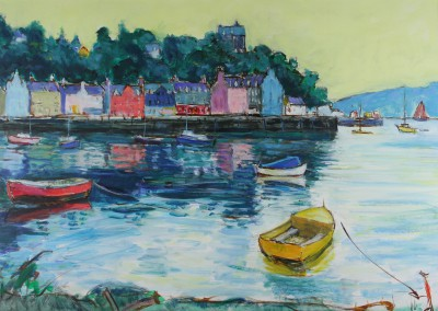 Scottish Artist Alan ANDERSON - Reflections Tobermory, Isle of Mull