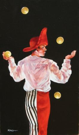 Scottish Artist Alan KING - One Ball too Many