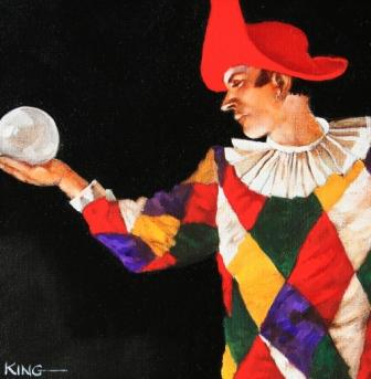 Scottish Artist Alan KING - Crystal Ball