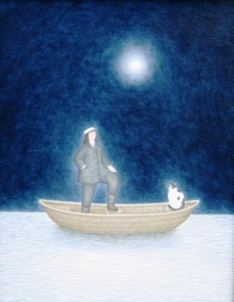 Scottish Artist Aliisa HYSLOP - The Captain and her Cat