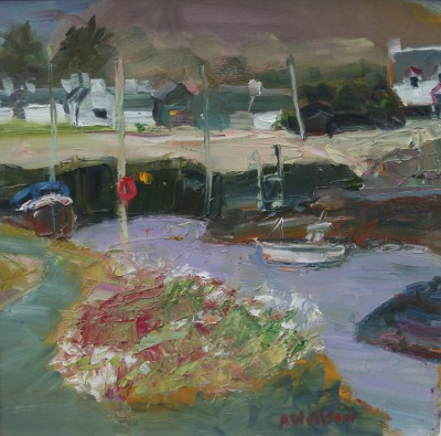 Scottish Artist Alma WOLFSON - Harbour Easdale