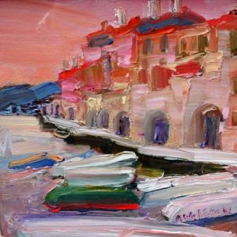 Scottish Artist Alma WOLFSON - Old Port Cadaques
