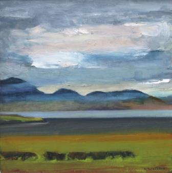 Scottish Artist Alma WOLFSON - Heavy Skies Over Arran