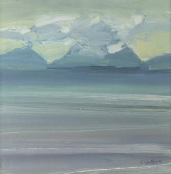 Scottish Artist Alma WOLFSON - Rising Mist, The Paps