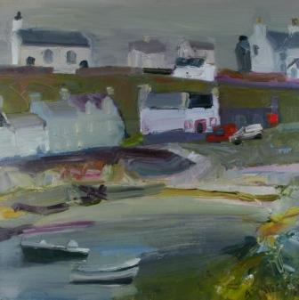 Scottish Artist Alma WOLFSON - The Church at Portnahaven