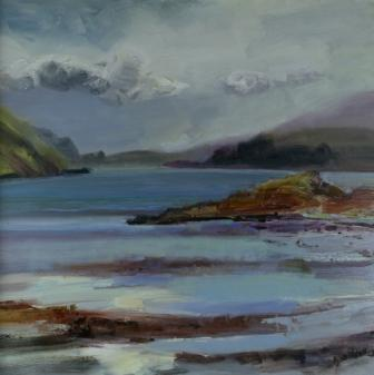 Scottish Artist Alma WOLFSON - Cloudy-Bright, Ardmaddy, Argyll
