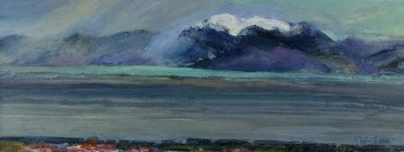 Scottish Artist Alma WOLFSON - Wintery Gusts, Arran