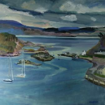 Scottish Artist Alma WOLFSON - Anchorage, Tarbert, Loch Fyne