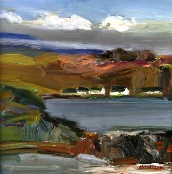 Scottish Artist Alma WOLFSON - Seaview Cottages, Seil Island