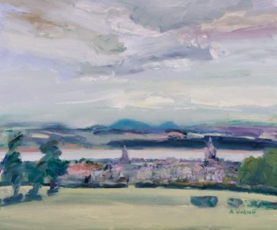 Scottish Artist Alma WOLFSON - St Andrews from Grange