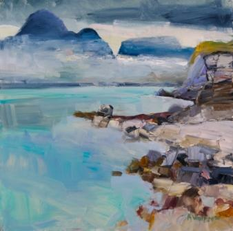 Scottish Artist Alma WOLFSON - The Cullins from Elgol