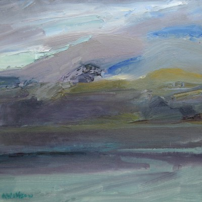 Scottish Artist Alma WOLFSON - Cloudburst Mull