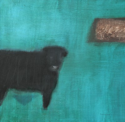 Black Angus painting by artist Andrew SQUIRE