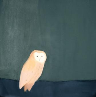 Scottish Artist Andrew SQUIRE - Sitting Owl