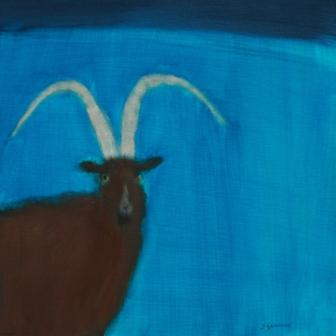 Scottish Artist Andrew SQUIRE - Wild Goat