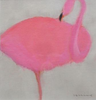 Scottish Artist Andrew SQUIRE - Flamingo