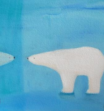 Scottish Artist Andrew SQUIRE - Ice Bear