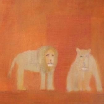 Scottish Artist Andrew SQUIRE - Two Lions