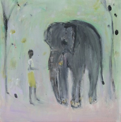 'Elephant and Boy' painting