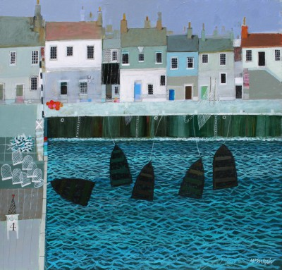 Scottish Artist Archie Dunbar McINTOSH - Fife Harbour
