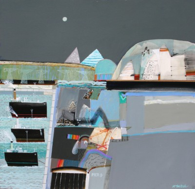 Scottish Artist Archie Dunbar McINTOSH - Safe Harbour, Pier 4