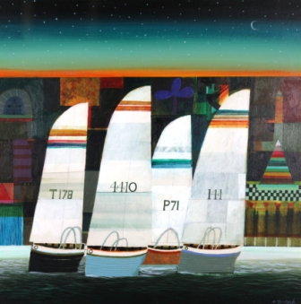 Scottish Artist Archie Dunbar McINTOSH - Night Sail