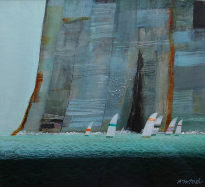 Scottish Artist Archie Dunbar McINTOSH - Regatta - Round the Point
