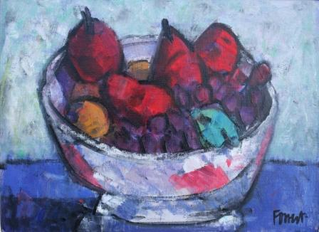Scottish Artist Archie FORREST - Glasgow Bowl with American Pears