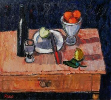 Scottish Artist Archie FORREST - Painter's Table