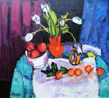 Scottish Artist Archie FORREST - Fruit and Flowers