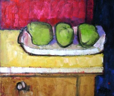 Scottish Artist Archie FORREST - Platter with Exotic Fruits
