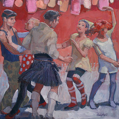 Scottish Artist Catriona CAMPBELL - Ceilidh Dancers