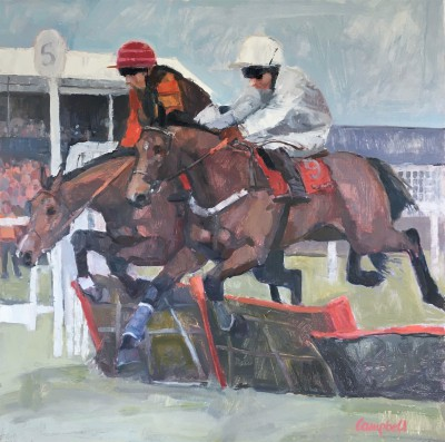 Scottish Artist Catriona CAMPBELL - National Hunt Racing