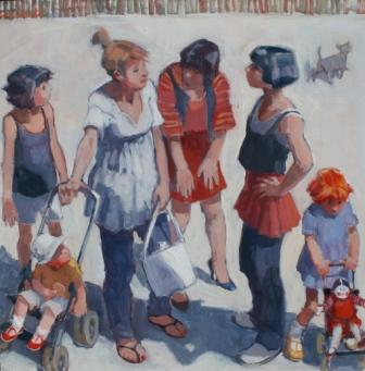 Scottish Artist Catriona CAMPBELL - Women in the Street