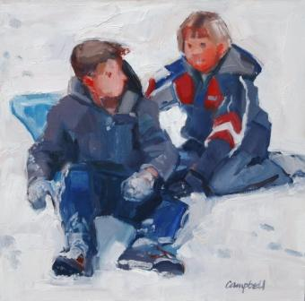 Scottish Artist Catriona CAMPBELL - Snow Boys