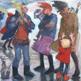 Scottish Artist Catriona CAMPBELL - Women in the Wind