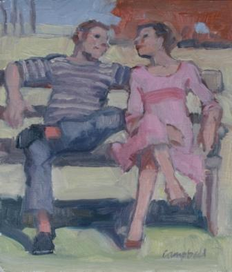 Scottish Artist Catriona CAMPBELL - Sharing a Bench