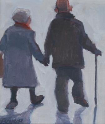 Scottish Artist Catriona CAMPBELL - Old Couple