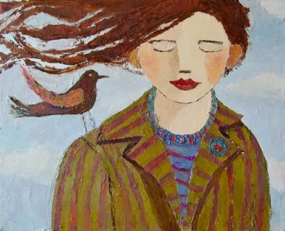 Scottish Artist Catriona MILLAR - Emily and Little Wing