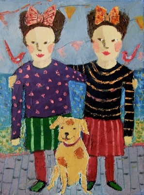 Scottish Artist Catriona MILLAR - Fran and Jan
