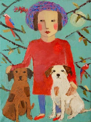 Scottish Artist Catriona MILLAR - Rufus and Red