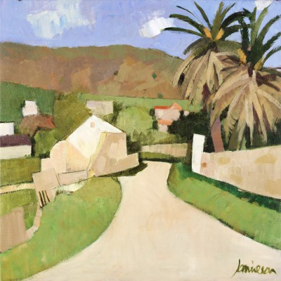 Scottish Artist Charles JAMIESON - Palm Trees, Andalucia