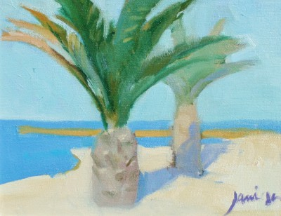 Scottish Artist Charles JAMIESON - Seaside Palms, Le Marche