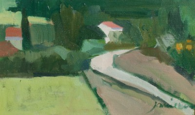 Scottish Artist Charles JAMIESON - Country Road, Languedoc