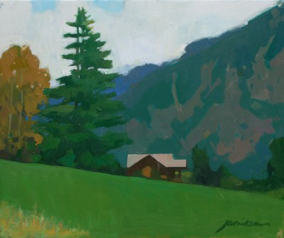 The Meadows, Chamonix painting by artist Charles JAMIESON