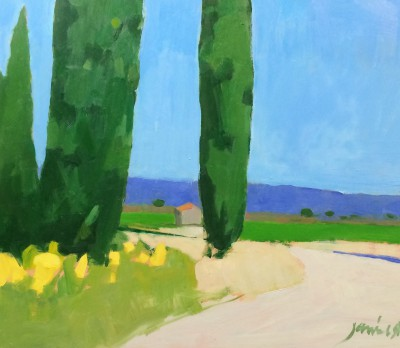 Scottish Artist Charles JAMIESON - Hot Afternoon, Languedoc