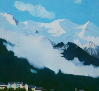 Scottish Artist Charles JAMIESON - Low Cloud, Chamonix Sud